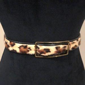 Leopard Leather Belt SZ26 (A219)